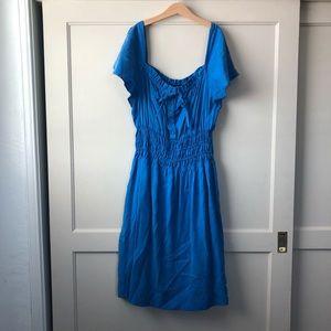 Zara woman boho blue dress